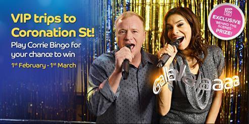 Gala Bingo VIP Coronation Street Promotion