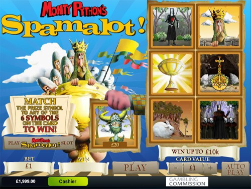 Spamalot Gala Bingo Mobile