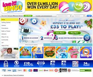 Love It Bingo Screenshot