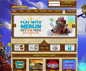 Merlin Bingo Screenshot