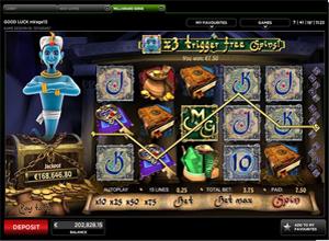millionaire genie slots screenshot