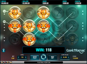 Cosmic Fortune Slots Screenshot
