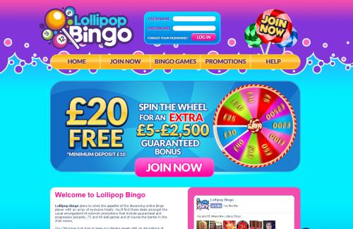 lollipop new bingo sites