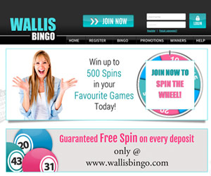 Wallis Bingo Home