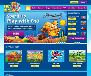 Sea Bingo (Playtech bingo site)