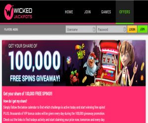 Wicked Jackpot Spins