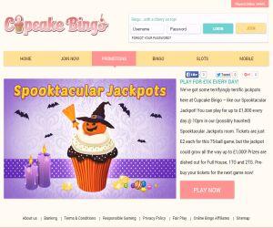 Cupcake Bingo Spooktastic Jackpots