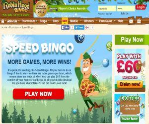 Robin Hood Speed Bingo