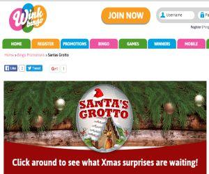 Wink Bingo Santas Grotto s