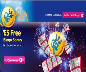 Gala Bingo 5 no deposit