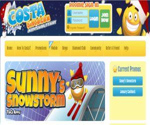 Costa Bingo's Sunny Snowstorm