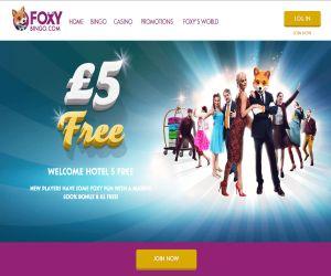 Foxy Bingo New 5 Pound Offer
