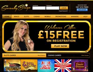 Swanky Bingo Homepage