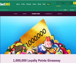 bet365 bingo Loyalty Points
