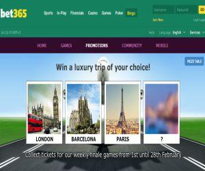 bet365 bingo pick your trip