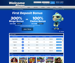 Welcome Bingo Home Page