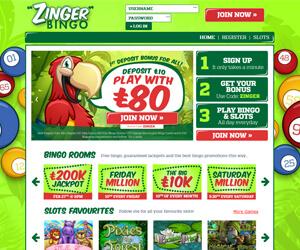 Zinger Bingo Home