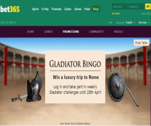 bet365 Gladiator Bingo