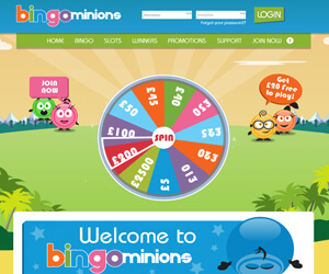Bingo Minions Home Page
