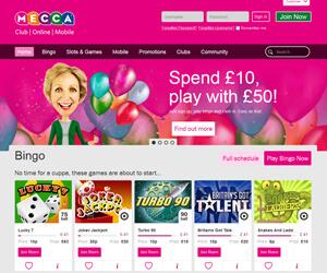 Mecca Bingo Home Page