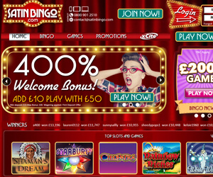 Satin Bingo Home Page