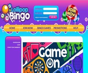 Lollipop Bingo Game On