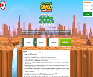 Crocodile Bingo home