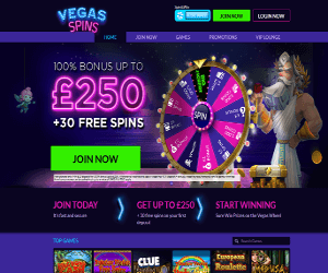 Vegas Spins home