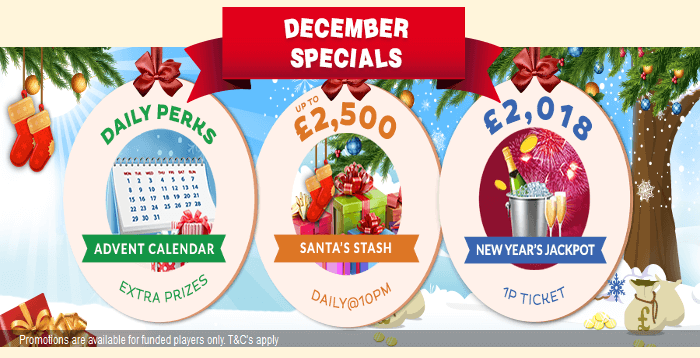 December Specials - Robin Hood Bingo