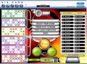 6 Card Bingo Screenshot