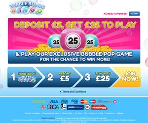 Bubble Bonus Bingo Screenshot