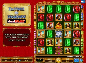 Da Vinci Dual Play Slots Screenshot