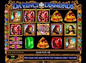 davinci diamonds bingo slots screenshot