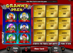 Granny Prix Scratch Cards Screenshot