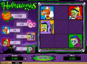 Halloweenies Scratch Cards Screenshot