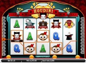 Houdini Slots Screenshot