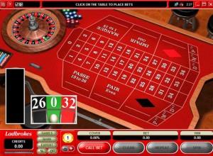 Ladbrokes Roulette Screenshot