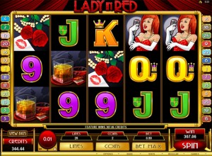 Lady In Red Slots Screenshot