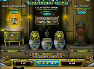 Pharaohs Gems Scratch Cards Screenshot