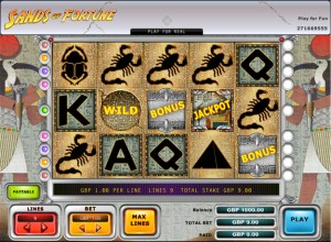 Sands of Fortune Slots Screenshot