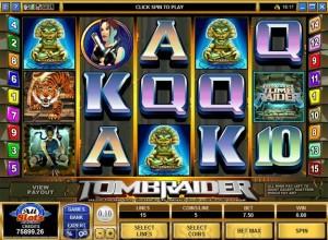 Tomb Raider Slots Screenshot