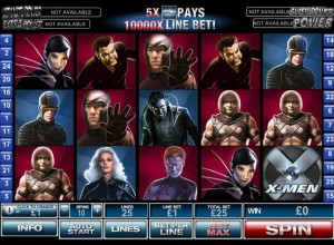 X Men slots Screenshot