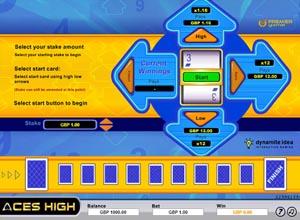 Aces High Hi Lo Screenshot
