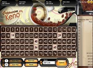cappuccino bingo screenshot