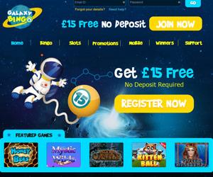 Galaxy Bingo Screenshot