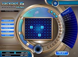 Jackpot 15 Keno Screenshot