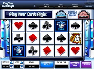 Play Your Cards Right Slots Screenshot