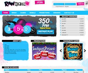 Raw Bingo Screenshot