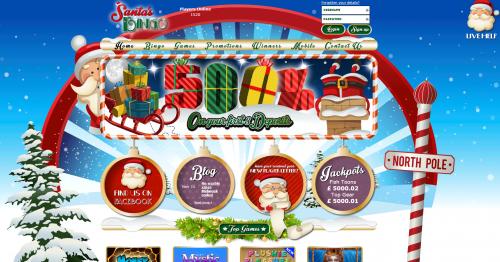 santa's bingo new bingo site live bingo network christmas