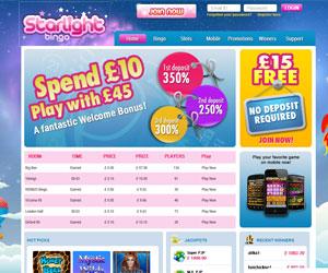 Starlight Bingo Screenshot